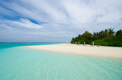 пляж Мальдивы тропические Стоковое Изображение