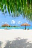 пляж Мальдивы стоковые фотографии rf