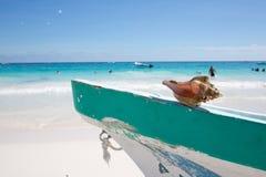 Пляж Мексика Tulum карибский Стоковое Фото