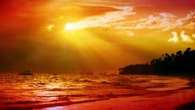 Пляж мечты Вест-Инди Стоковое Изображение