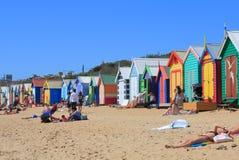 Пляж Мельбурна купая коробку Австралию Стоковое Изображение