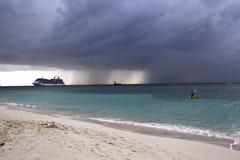 Пляж 7 миль, острова Cauman, карибские Стоковое фото RF