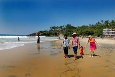 Пляж моря Kovalam Кералы стоковое фото