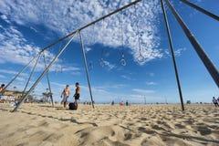 Пляж мышцы в Санта-Моника, ЛОС-АНДЖЕЛЕСЕ Стоковое фото RF