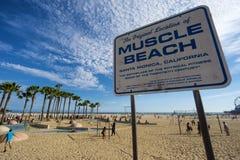 Пляж мышцы в Санта-Моника, ЛОС-АНДЖЕЛЕСЕ Стоковая Фотография RF