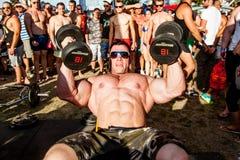 Пляж мышцы Scitec Стоковое Изображение