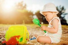 пляж младенца Стоковое Изображение