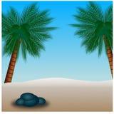 Пляж нарисованное искусством ure природы n иллюстрации руки Стоковые Фотографии RF