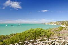 Пляж на лагуне Langebaan - национальном парке западного побережья, Южной Африке Стоковое фото RF