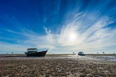 Пляж на Дуне Chau, Thai Binh, Вьетнаме Стоковая Фотография RF