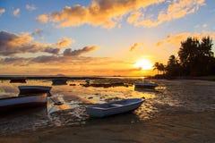 Пляж на Маврикии Стоковые Фото