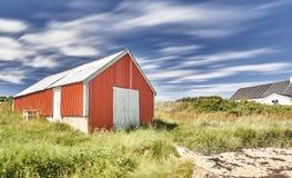 Пляж на норвежском острове Стоковые Изображения