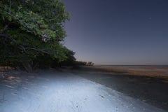 Пляж на ноче Стоковые Фотографии RF