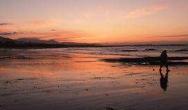 Пляж на огне Стоковые Фото
