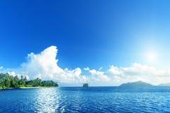 пляж на острове Digue Ла Стоковая Фотография