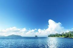 пляж на острове Digue Ла Стоковое фото RF