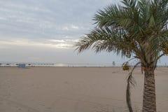 Пляж на побережье Испании Gandia Стоковая Фотография RF