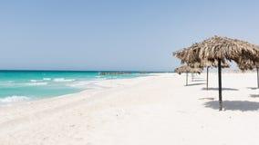 Пляж на северном побережье, Египте Стоковые Изображения RF