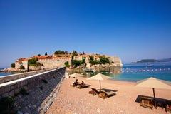 Пляж на Черногории Стоковые Изображения
