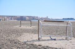 Пляж на юге  Испании Песок, море и небо Без людей Стоковая Фотография