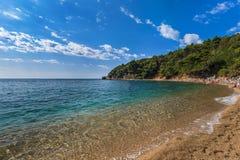 Пляж на Budva Черногории стоковое фото rf