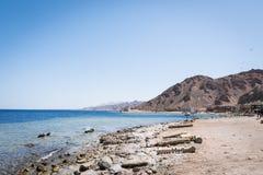 Пляж на Dahab, Египте стоковые изображения