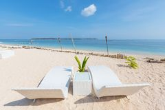 Пляж на Gili Стоковое фото RF