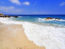 Пляж на Halkidiki, Sithonia, Греция стоковые изображения