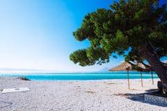 Пляж на Makarska, Хорватии Стоковое Изображение RF