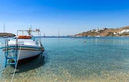 Пляж на Mykonos Стоковая Фотография RF