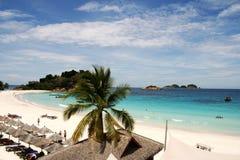 Пляж на Pulau Redang, Малайзии Стоковое Фото