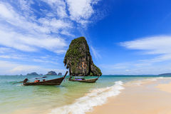 Пляж на railay krabi острова Стоковые Фото