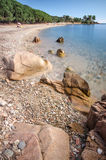 Пляж на Santa Maria Navarrese, Сардинии Стоковая Фотография RF