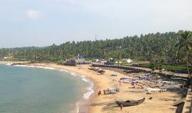 Пляж на Trivandrum в Керале Стоковая Фотография