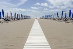 Пляж на Viareggio Versilia Италии Стоковые Изображения