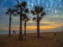 Пляж на Vina Del Mar Стоковое фото RF