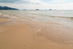 Пляж неба песка Стоковые Фотографии RF