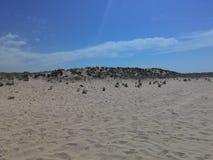 Пляж, небо и вода Стоковое Изображение
