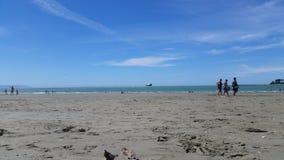 Пляж Нелсон Новой Зеландии Стоковые Изображения RF