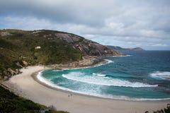 Пляж нищеты в национальном парке Torndirrup, Albany Стоковое Фото