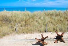 Пляж Нормандия Омахи Стоковое фото RF