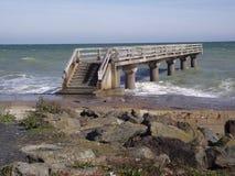 Пляж Нормандия Франция Европа Омахи стоковое фото