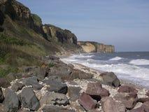 Пляж Нормандия Франция Европа Омахи стоковые изображения