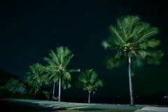 Пляж ночи стоковое изображение