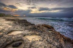 Пляж Оаху морской пехот Kaneohe низкопробный северный Стоковое Изображение
