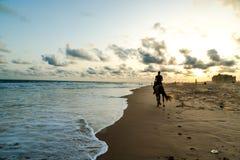 Пляж Обамы в Cotonou, Бенине стоковая фотография rf