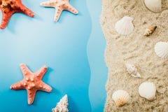 пляж обстреливает starfish Стоковое Фото