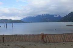 Пляж озера Harrison Стоковая Фотография