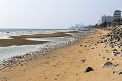 Пляж океана в городе Pataya Стоковое Изображение