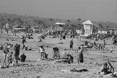 Пляж океана в Сан-Диего Стоковая Фотография RF